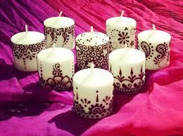 henna candle wedding favors pretty pinterest hennas favors
