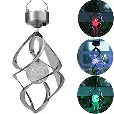 wind spinners with led lights 2pcs hottest courtyard decoration solar light color changing solar
