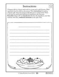 3rd grade writing worksheets writing instructions worksheets