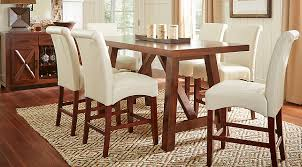 Rooms To Go Dining Table Sets by Mango Burnished Walnut 5 Pc Counter Height Dining Room Dining
