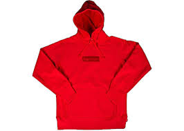 supreme box logo pullover hoodie red