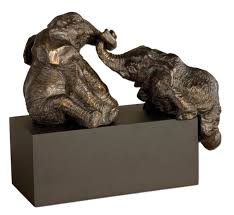 Home Decor Figurines Decorating Playful Elephant Figurines For Home Accessories Ideas