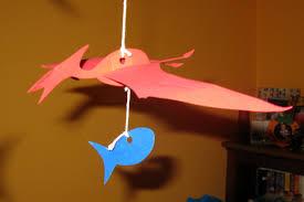 preschool crafts for kids pteranodon dinosaur mobile craft