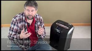 fellowes 73ci paper shredder review youtube