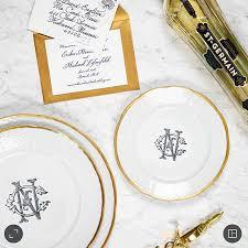 wedding registry dinnerware 104 best dinnerware monogrammed images on wedding