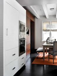 adjacent dining room with miele coffee service kitchen design