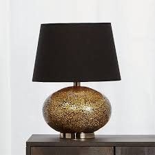 Black Table Lamps Oro Crackled Glass Table Lamp