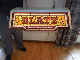 vtg blatz beer stain glass looking pool table light up sign game