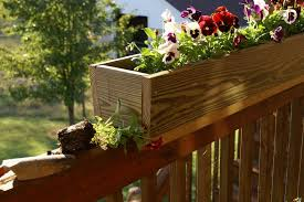 build a deck railing planter box u2014 the homy design