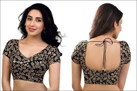fancy saree blouse back neck designs pattern for