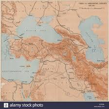 World War 2 Map by Turkey U0026 Surrounding Countries Mid 1941 World War 2 1956 Vintage