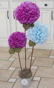diy tissue paper pom pom flowers decorazioni pinterest pom