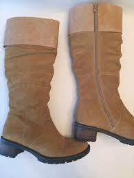 womens boots size 8 5 leather boots tamaris size uk 5 eu 38 wide calf brown zip