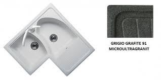 lavello angolare lavello plados universo angolo 83x50 2vsx grigio grafite 91