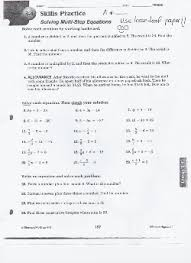 solving multi step equations worksheet answers worksheets