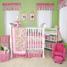 Room Decor For Boys Beautiful Pink Baby Room Decor With Green Wall Painted And Small