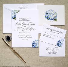 destination wedding invites blue hyrdrangea watercolor wedding invitations handmade wedding