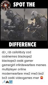 Cod Memes - onii spot the difference d b callofduty cod codmemes blackops2