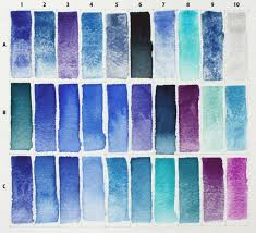 blue paint swatches kremer s blue pigment assortment too much white paper