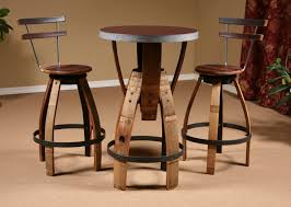 Barrel Bistro Table Wine Barrel Stave Furniture Bar Height Table Stave Stool Table
