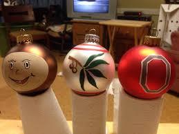 ohio state christmas bulbs hand painted ohio state buckeyes