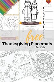 10 free printable thanksgiving place mats kids crazy