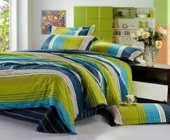 Bedroom Blue And Green Stripe Bedding Sets Foter