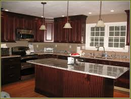 awesome picture of dark cherry wood kitchen cabinets perfect