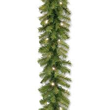 christmas garland battery operated led lights national tree norwood fir garland with 50 battery operated soft