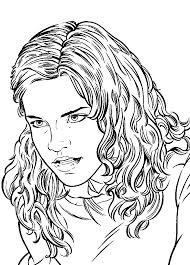 hermione granger coloring pages eson me