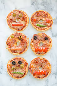 hello wonderful make your own monster pizza bagels cute