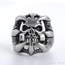 metal skeleton ring holder images The expendables skull ring punk biker style gothic skeleton rings jpg