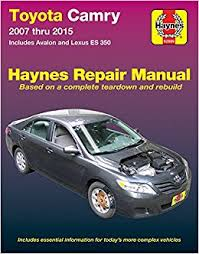 does toyota service lexus toyota camry avalon lexus es 350 2007 2015 does not include
