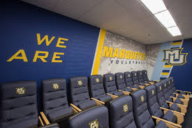 marquette volleyball locker room youtube