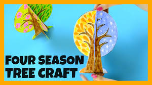four seasons tree craft with template paper crafts ideas