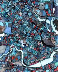 Map Of Cambridge Ma Wall Art U2013 Neighborhood Map Of Cambridge Ma Abstract Map Print