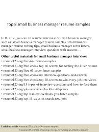 business management resume template top8smallbusinessmanagerresumesamples 150521074731 lva1 app6892 thumbnail 4 jpg cb 1432194494
