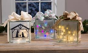 christmas holographic glass blocks craft warehouse