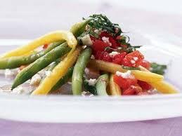 green u0026 yellow bean salad u0026 chunky tomato dressing u0026 feta cheese