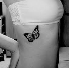 butterfly on hip bone design idea