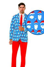 christmas suit men s blue santa sweater suit 50 shades of santa christmas suit