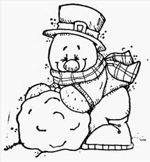 snowman to color eliolera com