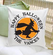 personalized halloween throw pillows