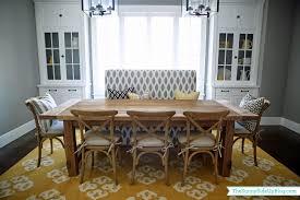 Dining Room Decor Update Bench Chairs Pillows The Sunny Side - Dining room chairs and benches