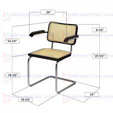 Marcel Breuer Chairs Marcel Breuer 5 Piece Dining Set With Cesca Cane Chairs