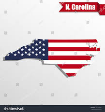 North Carolina State Map by North Carolina State Map Us Flag Stock Vector 421475620 Shutterstock