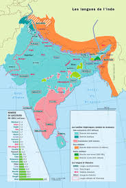 India Language Map by Imprimer Language Education And Culture