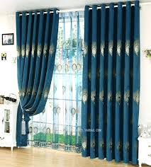 Peacock Blue Sheer Curtains Blue Sheer Curtains Woodio