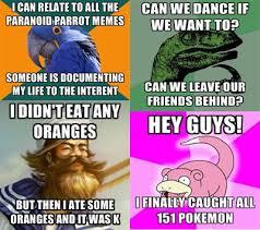 Paranoid Parrot Memes - meme mashup by wacarb on deviantart