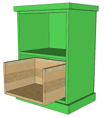how to build a file cabinet drawer ana white build your own office narrow file drawer base unit